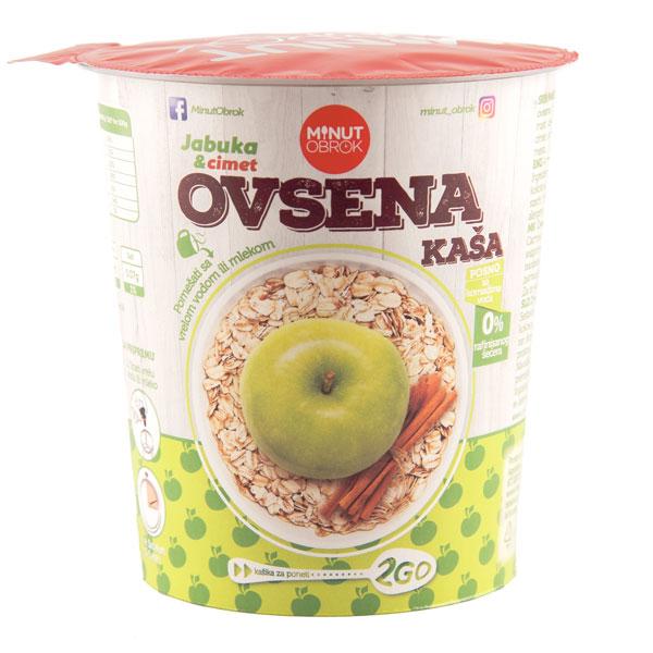 Ovsena kasa sa ukusom jabuke i cimeta u casi