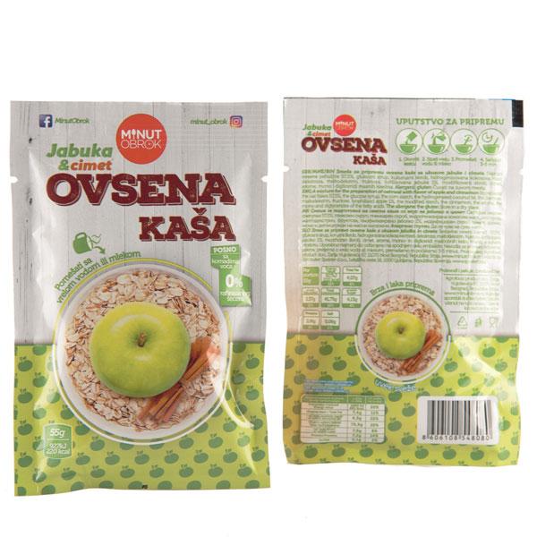 Ovsene kase sa ukucom jabuke i cimeta
